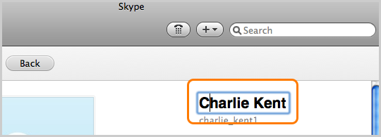 Can I change my Skype Name in Skype for Mac OS X? - Help for Skype
