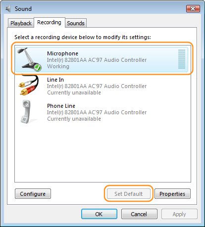how to set recording device for team speak