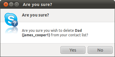 how to delete my skype contacts